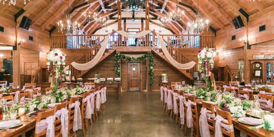 Beautiful custom reception set-up in the rustic and refined barn venue. Nathan Baerreis Photography