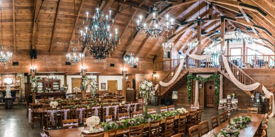 Inside the barn wedding venue: Image courtesy of Nathan Baerreis Photography