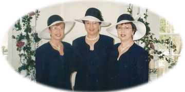 Weddings by the Foster Sisters. Donna, Margie, and Linda