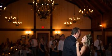 Dancing under the chandeliers!  Image courtesy of Ellie's Photography