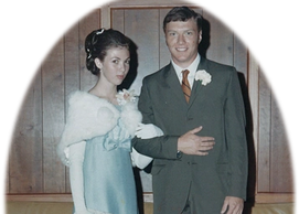 Tommy and Linda McGuire at his Senior Prom at Murphy High School.