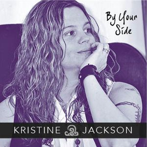 Kristine Jackson By Your Side Album cover MusicByKJ Christine Jackson head-shot in black and white grey scale wiht her head resting on her hand