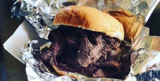 Slow smoked pit beef