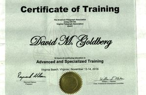 Advance Specialized Training in Polygraph Techniques and Testing awarded by the American Polygraph Association.