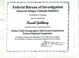 Expert in the Field of Child Sexual and Child Exploitation and Child Pornography Investigations. By the FBI