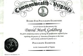 Board Certified Licensed Examiner for your needed Polygraph Testing Issues.