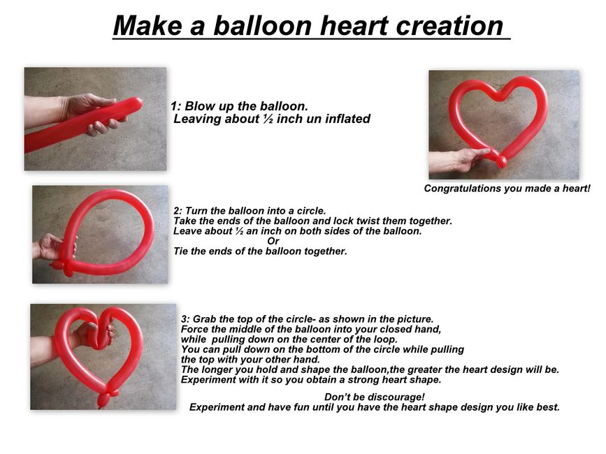 simple balloon twisting heart, children's balloon twisters for parties
