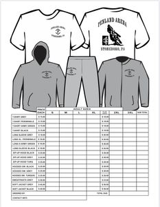 Penland Arena Gear! Message or text Beth Penland to place an order. 724-988-9238.