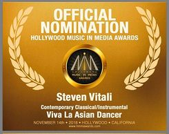 Steven Vitali Official Nomination 2018  Hollywood Music In Media Awards 2018 HMMA