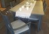 Graphite, Gray Stained Top, Newly Upholstered Chairs