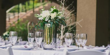 Hill Country wedding reception. Image by Sloan Breeding