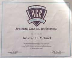 American Council on Exercise Certified Personal Trainer