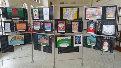 Area High School Students entries in our Art Challenge help each year.