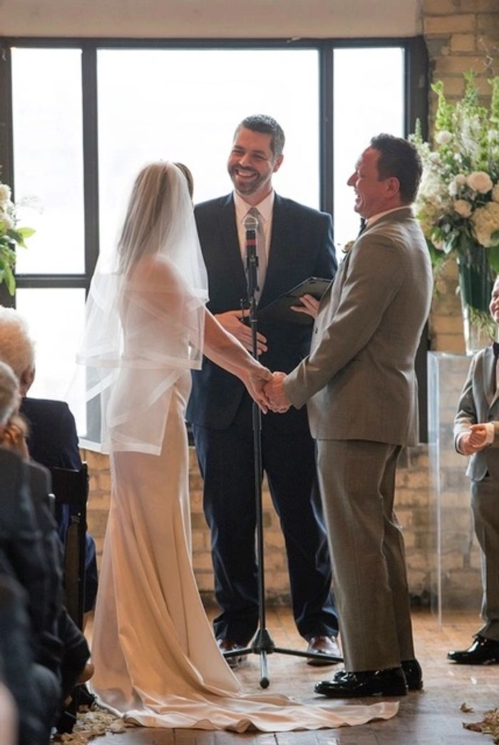 Happy bride and groom with Philip JW Smith Officiant