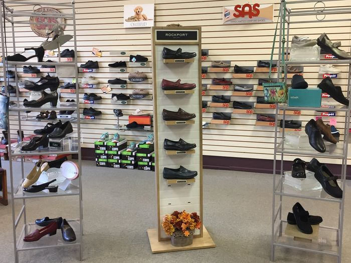 Comfort  shoes by SAS, New Balance, Alegria, Cobb Hill,Dunham, Propet.  Specializing in wide widths