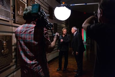 DP & Camera Crew Dan Rather & Travis Tritt at the Country Music Hall of Fame. AXS-TV, 'The Big Interview'