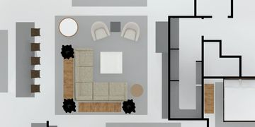floorplan rendering space planning of living room