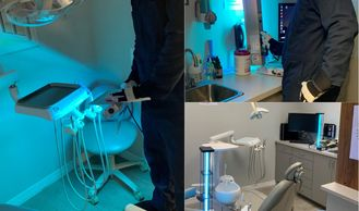 Dentist office and equipment COVID-19 disinfection and protection.  Business disinfection services.