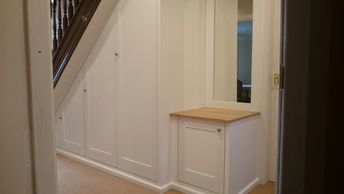 Under Stairs Cupboards in Burton on Trent, Staffordshire. Handmade by TW Bespoke.