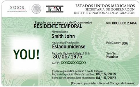 TEMPORARY MEXICO RESIDENT CARD