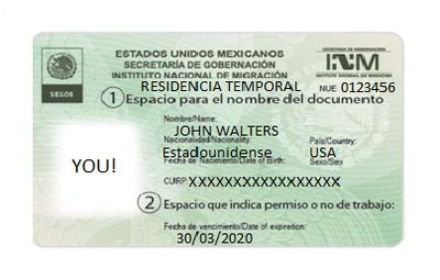 Temporary Mexico Resident Card Sample