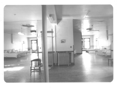 Interior of Station 1, 1970. This fire station was later converted to the Denver Firefighters Museum