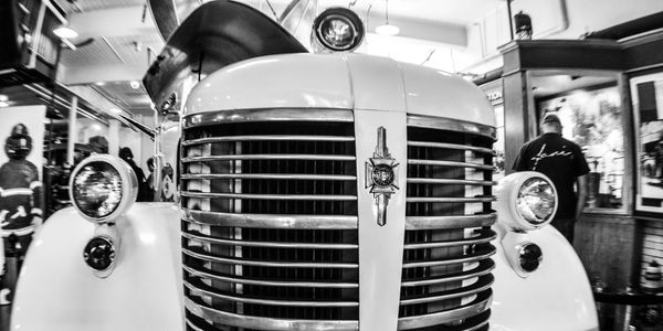 A 1942 American LaFrance fire truck in the Denver Firefighters Museum