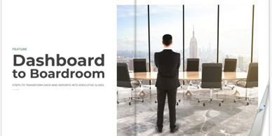 Data for Execs magazine feature Dashboard to Boardroom