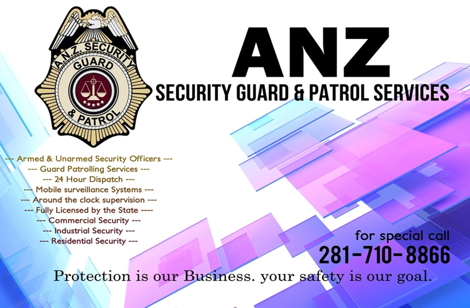 Security Guard & Patrol Services -Houston & Surrounding Area