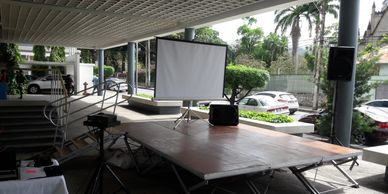 Visual Equipment Rentals. Tvs, Screens and projector screens Trinidad.