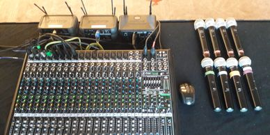 Mix Board, Cordless Microphones