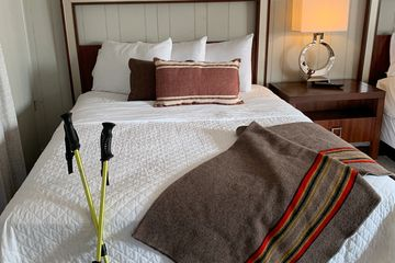 Bed in Loblolly Pines cabin