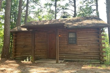 Log cabin at Loblolly Pines