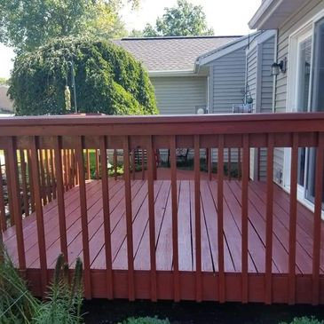 Deck staining and painting.