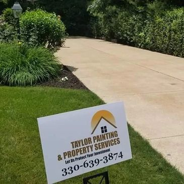 Pressure washed driveway by Taylor Painting