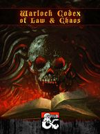 Cover image for Warlock Codex of Law & Chaos, with a skull over a tome