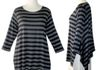 Comfy Modal Vancouver Tunic grey stripe $110