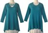 Sympli Reversible ZigZag Sweater teal $220