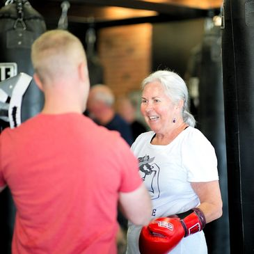 Safe, friendly and challenging exercise for fighting Parkinson's Disease.