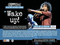 "401 Quote Card with Zack de la Rocha instructing the audience to ""Wake up!""  Produced by Genpopmedia"