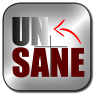 Unsane movie.  Button Logo.  Overcome the covert narcissist turning your life upside down.