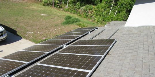 Solar Panel During Roof Inspection