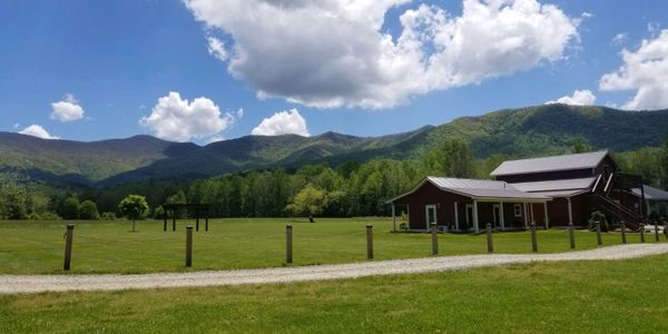 Panoramic view of Brass Town Bald Mountain, the tallest mountain in Georgia
