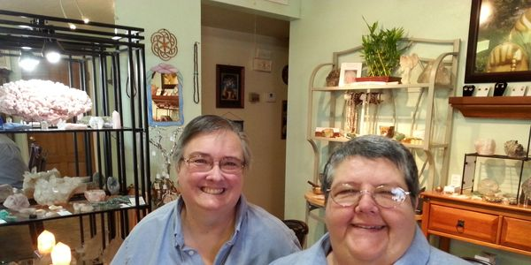 Shari and Betty welcome you to their cozy showroom.