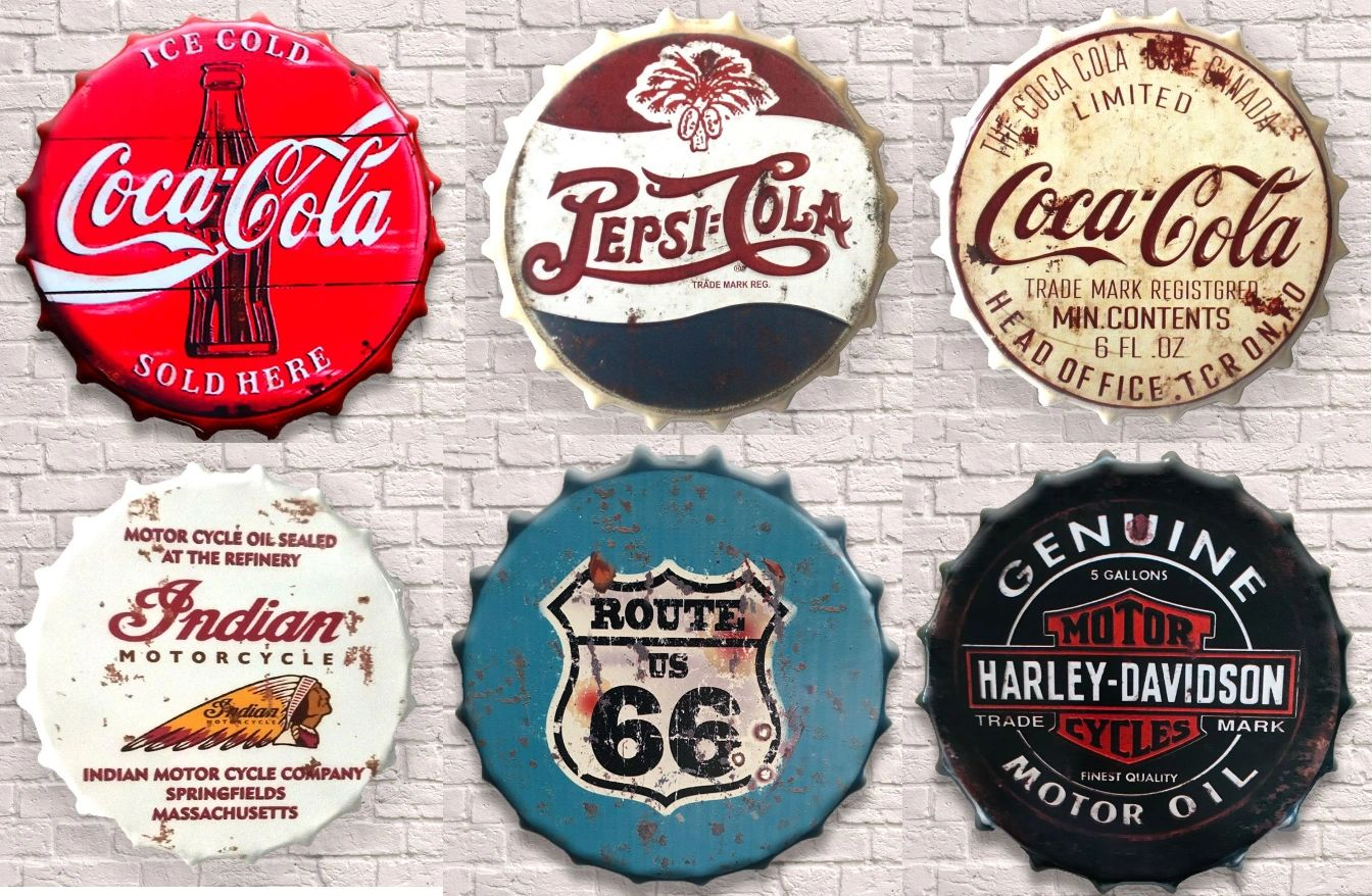 COCA COLA PEPSI COLA INDIAN ROUTE 66 HARLEY DAVIDSON MOTORCYCLE