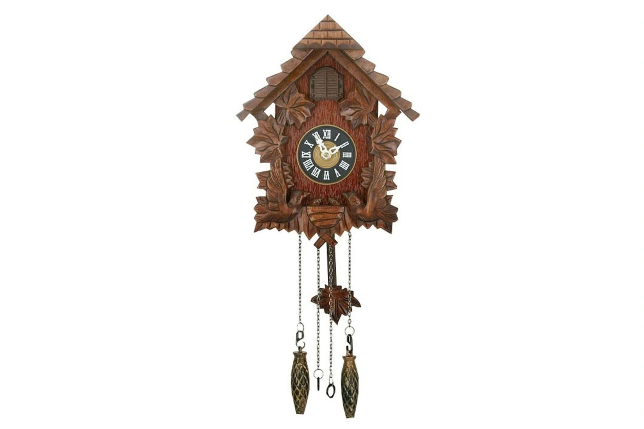 PITCHED ROOF CUCKOO CLOCK chime bird