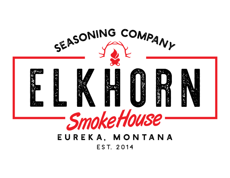Elkhorn SmokeHouse new logo. A great place to find quality sausage and jerky seasonings.