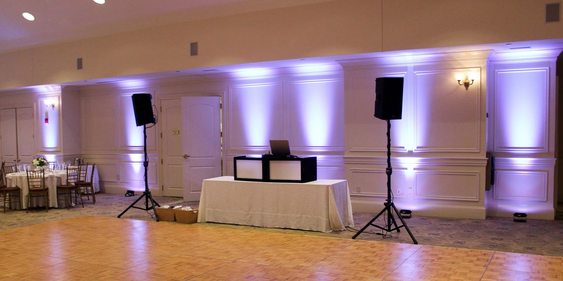 Uplighting Granite Links DJ Wedding New England Boston
