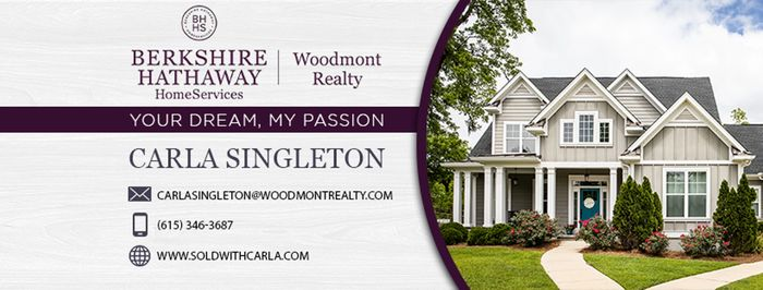 Nashville, TN Carla Singleton Realtor Berkshire Hathaway HomeServices soldwithcarla Real Estate Home