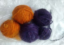 Purple and Gold Cotswold Homespun Yarn